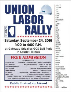 Union Labor Rally September 24, 2016